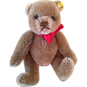 "5"" Steiff cocoa colored Teddy bear"