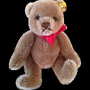 """5"""" Steiff cocoa colored Teddy bear"""