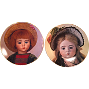 Vintage A. Marque doll plates