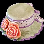 Fitz & Floyd spring bonnet vanity box