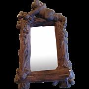 Early plaster cherub Mirror