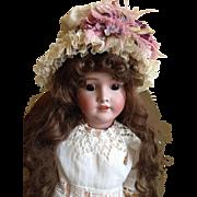 Lovely fancy bonnet for large doll