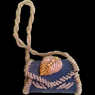 "3 1/2""beaded  Iroquois purse"