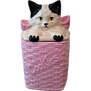 McCOY kitten in basket cookie Jar