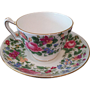 Vintage Stafordshire English tea cup & saucer