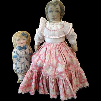 Pair vintage cloth girls
