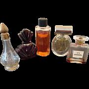 5 Vintage mini perfume Bottles