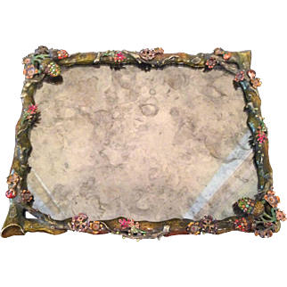 Lovely Jay Strongwater twig & acorn vanity tray