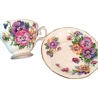 Vintage Queen Ann, Spring Melody, cup & saucer