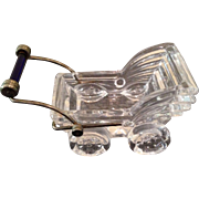 Vintage Glass baby buggy