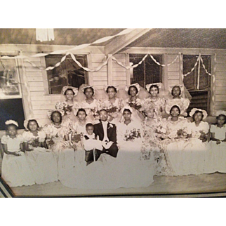 Vintage photo of black Wedding Party