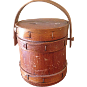 1880's tiny Firkin bucket
