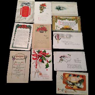 1918 Christmas post cards