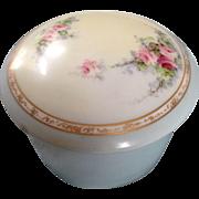 Vintage French porcelain powder box