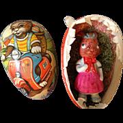 Vintage MRS BUNNY in Easter Egg, rare ears