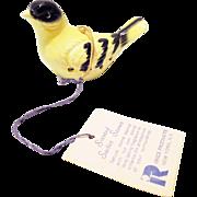 70's Vintage Bird Scented Sachet w/ Stones porcelain by Irice
