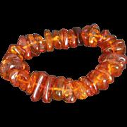 Vintage Chunky baltic amber bracelet stretch