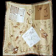 Vintage Maramotti MaxMara Silk scarf 38 x 38 inch Foulard