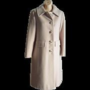 Vintage 100% Pure Cashmere Coat Camel Tan color Dress coat