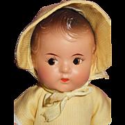 Vintage Composition Madame Alexander Dionne Quintuplets Toddler Doll