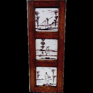 Set of Three Framed Tiles