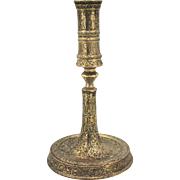 Late 17th Century Engraved Candlestick