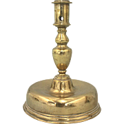 17th Century Spanish Brass Candlestick