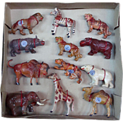 Boxed Set of African Animals from Russian Occupied Germany. - Red Tag Sale Item