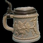 Mettlach 1/4 Liter Stein with Cherubs