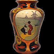 Austrian Vase with Kissing Dutch Couple