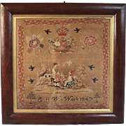 Needlework Sampler Dated 1847
