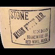 Red Wing Stoneware Fruit Jar
