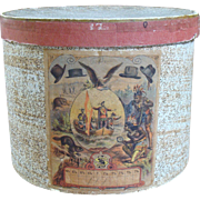 Men's Antique Hat Box with Great Label