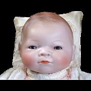 "Adorable 13"" Bisque Head Bye Lo Baby"
