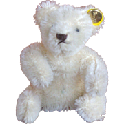 Miniature Steiff Cream Colored Mohair Bendable Bear