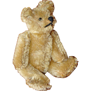 Miniature Jointed Mohair Bear with Big Feet