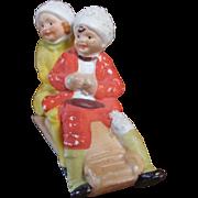 German Snow Babies on Sled