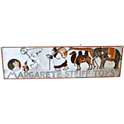 Margarete Steiff Toys Enameled Metal Sign