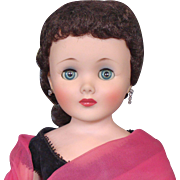 """24"""" American Character Toni Doll Wearing American Beauty Gown"""