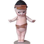 Rose O'Neill Bisque Kewpie Wearing a Military Cap