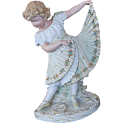 Large Heubach Dancing Girl Bisque Figurine