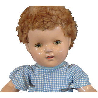 Effanbee Composition Mary Lee Doll with Caracul Wig
