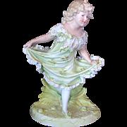Large Gebruder Heubach Dancing Girl Figurine