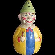 German Paper Mache Roly Poly Clown