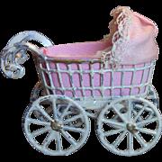 Miniature Metal Baby Buggy