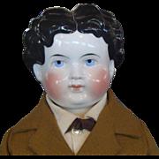 1880's German China Head Gentleman Doll