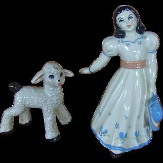 Ceramic Arts Studio Bo Peep and Her Little Lamb Figures