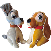 Disney's Lady and The Tramp Stuffed Toys - Red Tag Sale Item