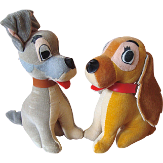 Disney's Lady and The Tramp Stuffed Toys