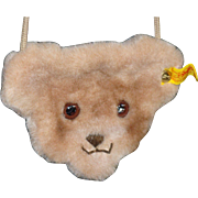 Steiff Mohair Teddy Bear Face Purse for Your Doll